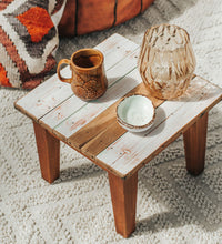 Load image into Gallery viewer, VIntage handmade rimu stool