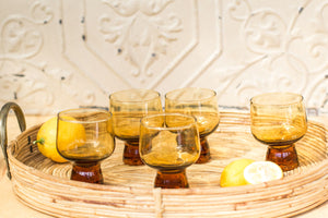 Vintage Kaaru honeygold stem glasses