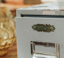 Load image into Gallery viewer, Vintage Metal Filing Drawer