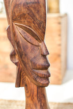 Load image into Gallery viewer, Vintage Wooden Tribal Statue