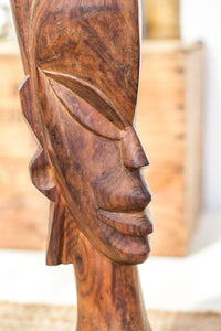 Vintage Wooden Tribal Statue