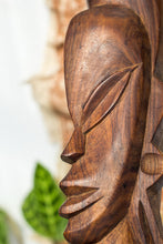 Load image into Gallery viewer, Vintage boho wooden tribal statue