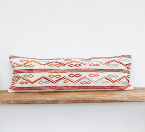 turkish kilim lumbar cushion