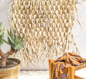 Palm Leaf Woven Wall Deco - NEW