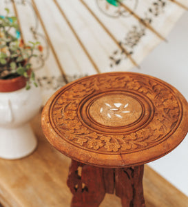 Vintage Mini Carved Table