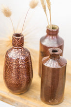 Load image into Gallery viewer, Vintage burnt sienna stone crock ink bottle