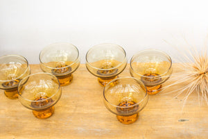 Vintage NZ madeKaaru honeygold glasses