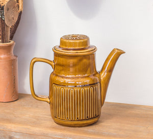 Vintage Crown Lynn honeygold coffee jug