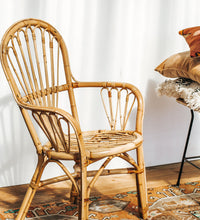 Load image into Gallery viewer, Vintage boho cane chair