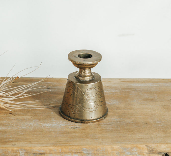Small Brass Vintage Candleholder