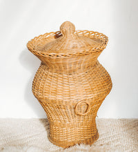Load image into Gallery viewer, Vintage Cane Ali Baba Basket