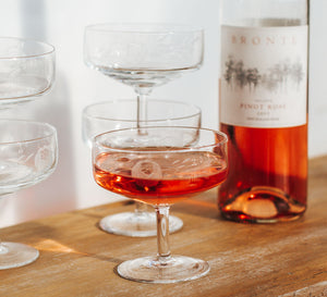 Vintage Gatsby wine glasses