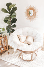 Load image into Gallery viewer, Boho brown cane papasan chair