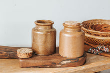 Load image into Gallery viewer, Vintage Pottery Storage Jars