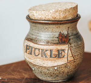 Vintage Pottery Pickle Jar