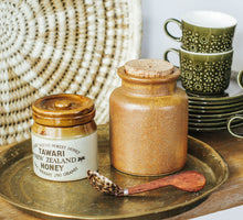 Load image into Gallery viewer, Vintage boho pottery storage jars with cork
