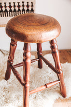 Load image into Gallery viewer, Vintage Leather Stools x2