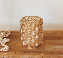 Load image into Gallery viewer, Vintage glass boho ambergold lightshade