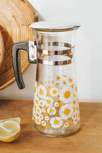 Load image into Gallery viewer, Vintage boho water jug with daisy pattern