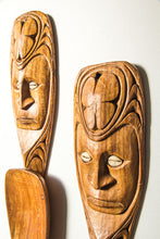 Load image into Gallery viewer, Boho pacifica wood carved salad servers
