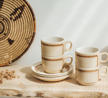 Load image into Gallery viewer, Vintage crown lynn coffee mugs and saucers