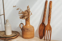 Load image into Gallery viewer, Vintage boho pacifica style handcarved salad servers