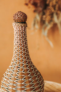 Vintage Retro Wicker Bottle