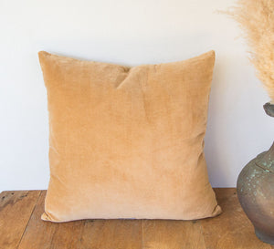 Bohemian Cotton Velvet Cushion honey