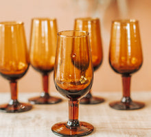 Load image into Gallery viewer, Vintage Handblown Port Glasses x 5