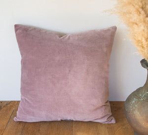 Bohemian Cotton Velvet Cushion plum
