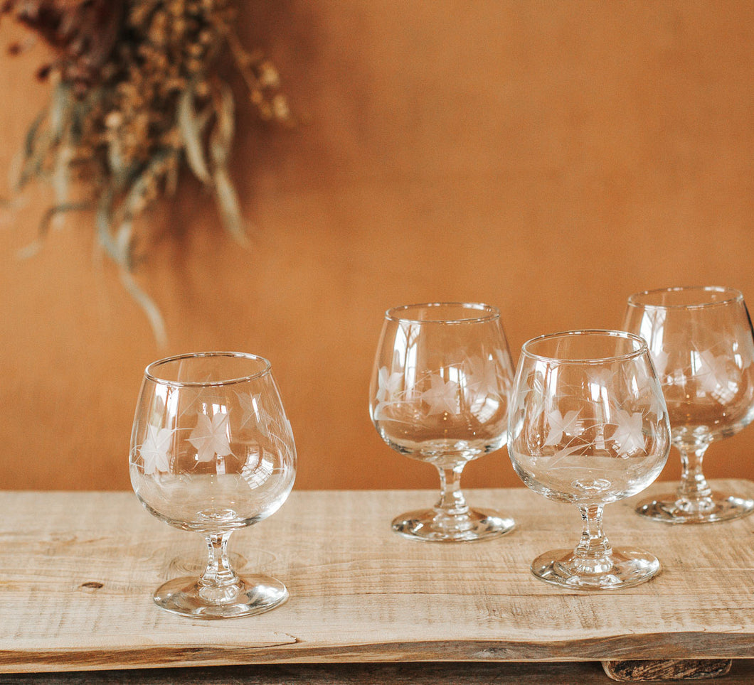 Vintage Brandy Glasses - Set of 4