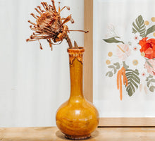 Load image into Gallery viewer, Vintage yellow ceramic glazed vase