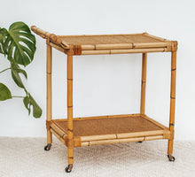 Load image into Gallery viewer, Vintage Cane Drinks Trolley