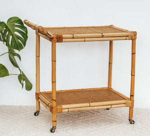 Vintage Cane Drinks Trolley