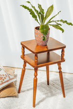 Load image into Gallery viewer, Vintage boho retro wooden telephone side table