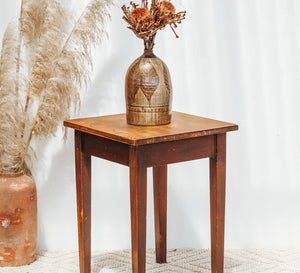 VIntage boho wood rimu side table