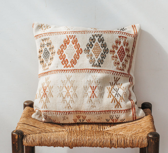 Turkish Kilim wool rug cushion