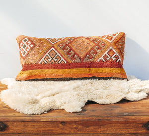 Vintage kilim rectangle cushion