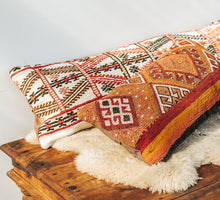 Load image into Gallery viewer, Vintage kilim lumbar cushion