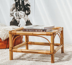 Vintage bamboo cane coffee table