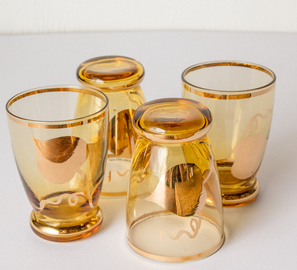 Vintage shot glasses x 4