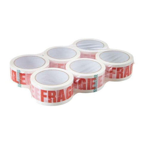 Acrylic White Fragile Tapes (48mm X 91m) - Pack of 6