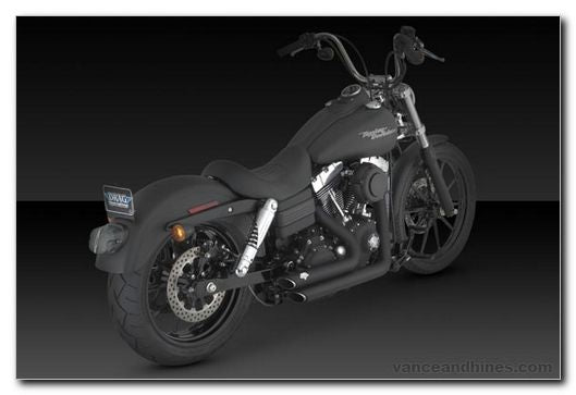 VANCE & HINES SHORT SHOTS STAGGERED BLACK DYNA