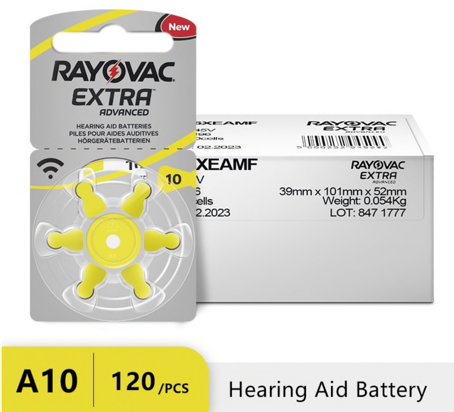 Rayovac Air Energy Hearing Aid Batteries A10 - Official Retailer-Be Healthy Be Loved
