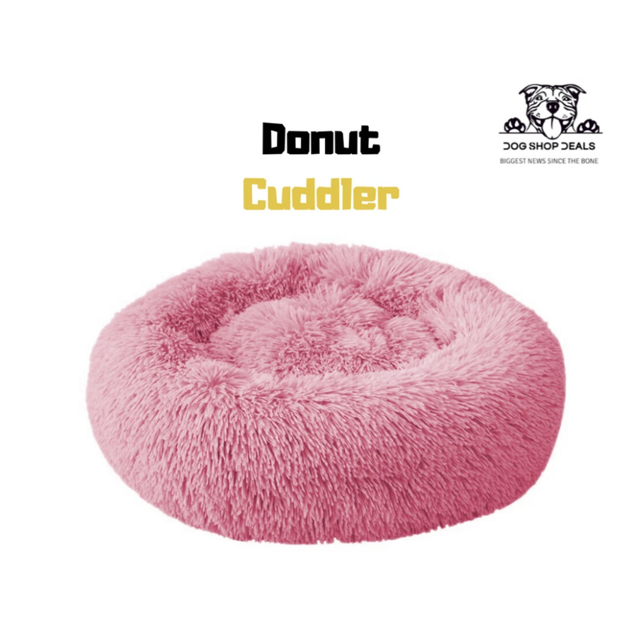 Soft Velvety Calming Bed | Donut Cuddler™ - Official Retailer-Be Healthy Be Loved