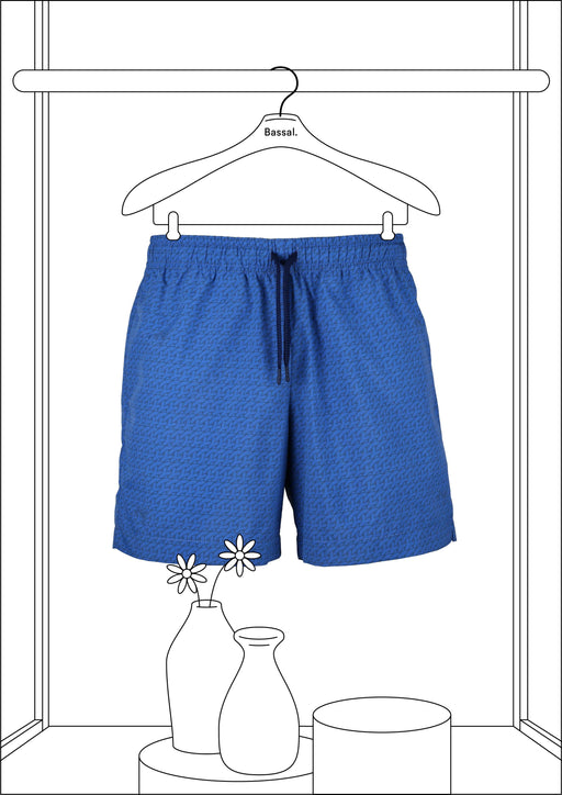 Bassal Blue Pattern Swimwear