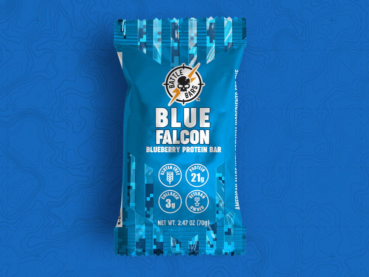Blue Falcon Blueberry (12 Count) Bars thebattlebars