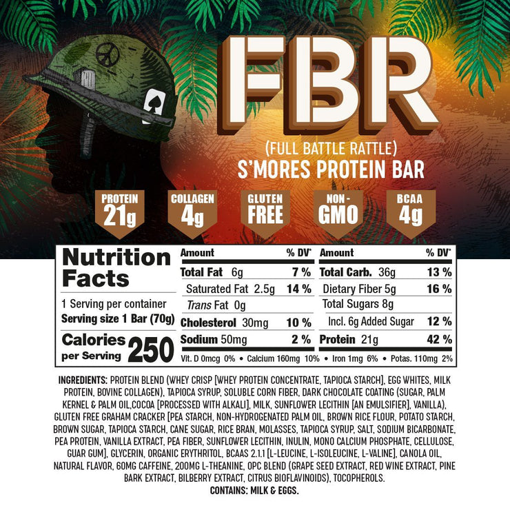24 Count Mixed Flavors(Chocolate, S'mores, Peanut Butter, Blueberry) - Battle Bars