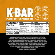 K-BAR Peanut Butter (12 Count) Wholesale Bars Battle Bars