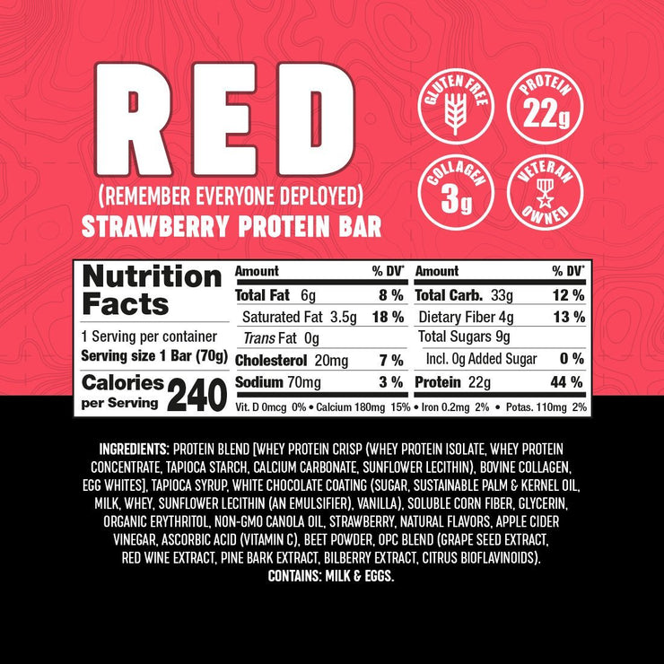 RED Strawberry & Cream (12 Count) Wholesale Bars Battle Bars